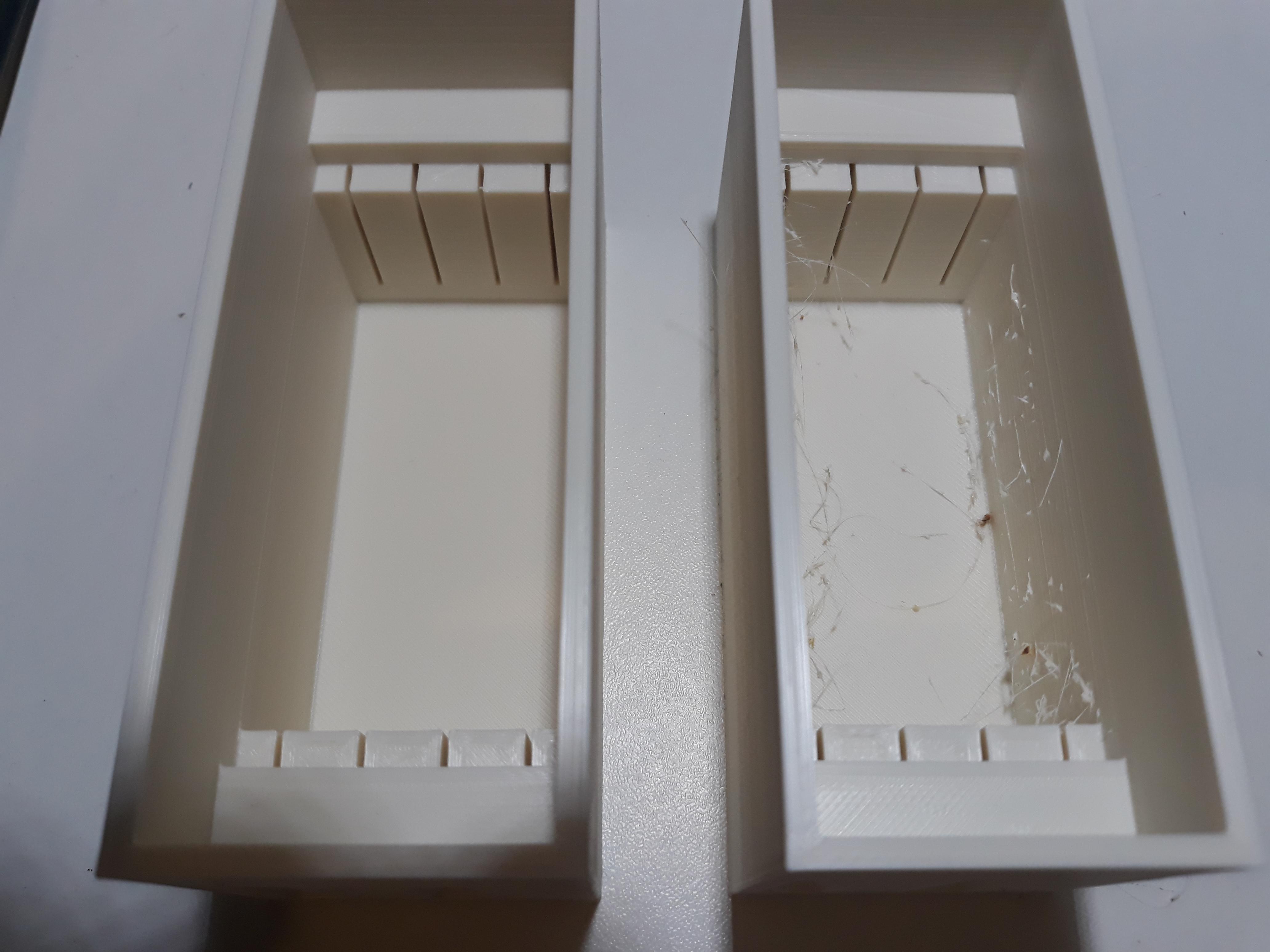 Vergelijking combing distance limit 0 en 50mm